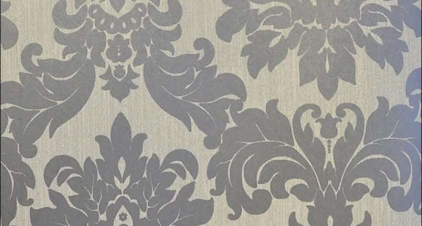 Versalles Silver Taupe Grey Damask