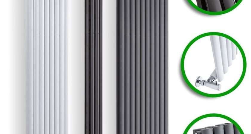 Vertical Designer Radiator Tall Upright Oval Column Panel
