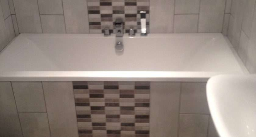 Vertical Feature Tiles Bathroom Awesome