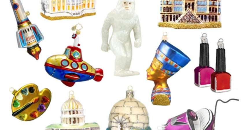 Very Fond Quirky Christmas Ornaments