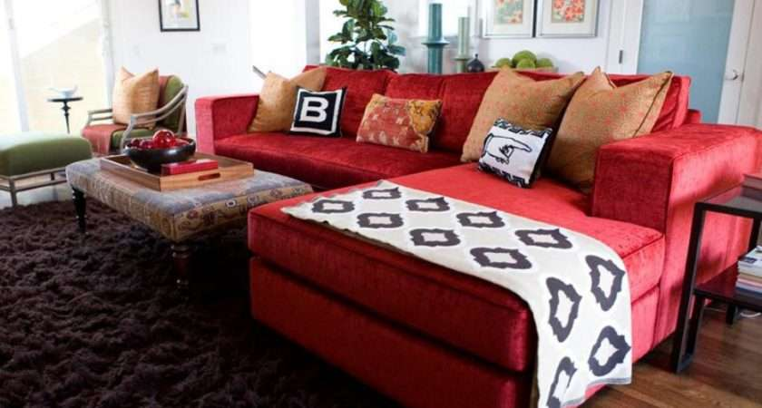 Vibrant Red Sofas Living Room Dining Decorating Ideas