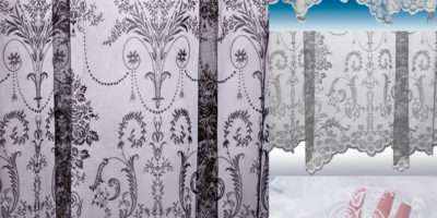 Victoria Lace Curtain Boutique Damask Design Sold