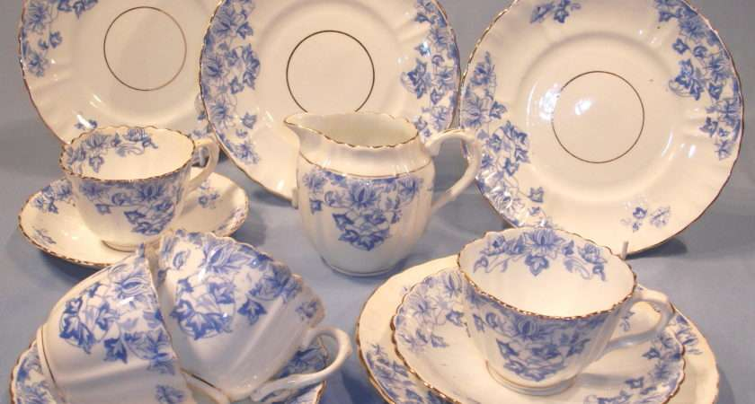 Victorian Blue White Tea Plate Sold Collectable China