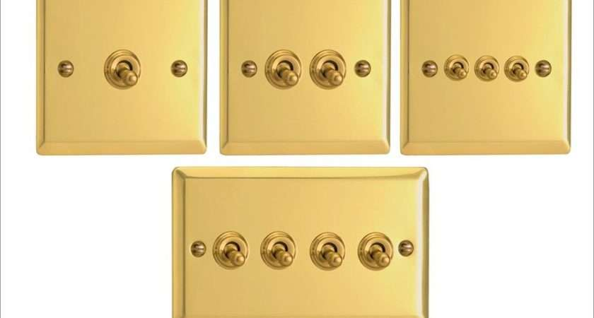 Victorian Brass Toggle Light Switches Amp Way Gang Options
