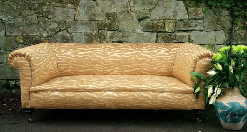 Victorian Chesterfield Sofa Vintage Mulberry Home Fabric Hand Made
