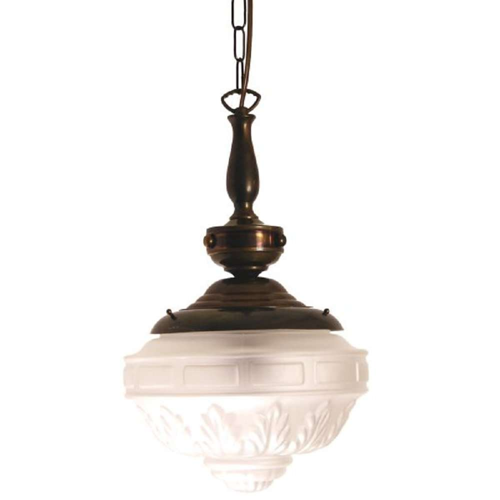 Victorian Edwardian Hall Light Patterned Frosted