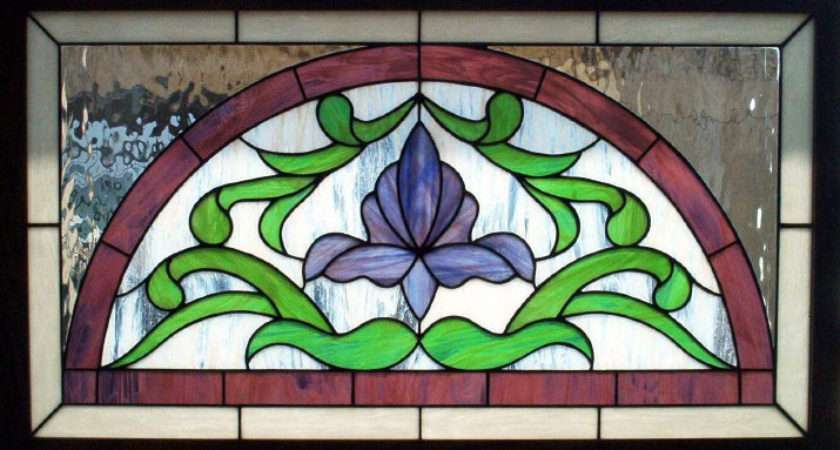 Victorian Flower Arch Stained Glass Transom Dean