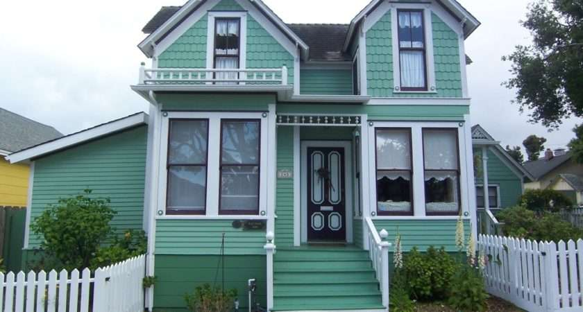 Victorian House Color Schemes Exterior Green Style