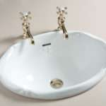 Victorian Inset Basin Gold Taps