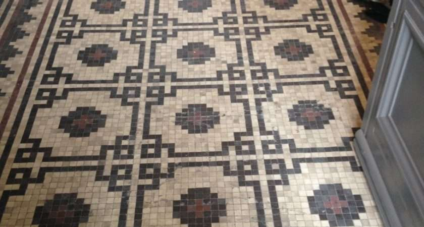 Victorian Mosaic Hallway Tiles Cleaned Sealed