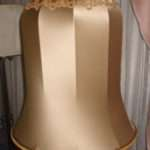 Vintage Bell Lampshade Recovered Restored