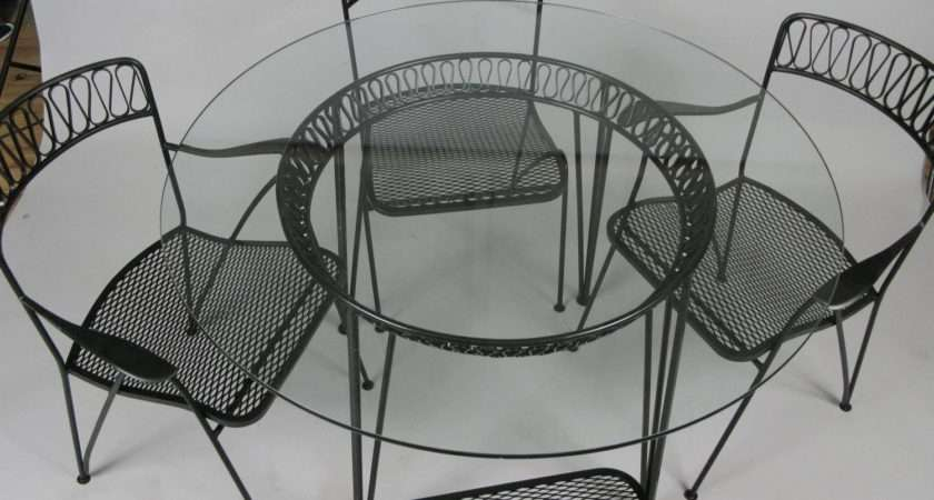 Vintage Modern Dining Table Chairs Tempestini