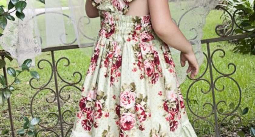 Vintage Rose Country Chic Holiday Frock Perfect Shabby
