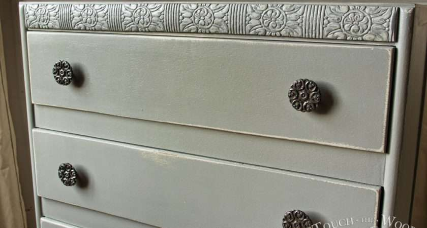 Vintage Shabby Chic Chest Drawers Touch Wood