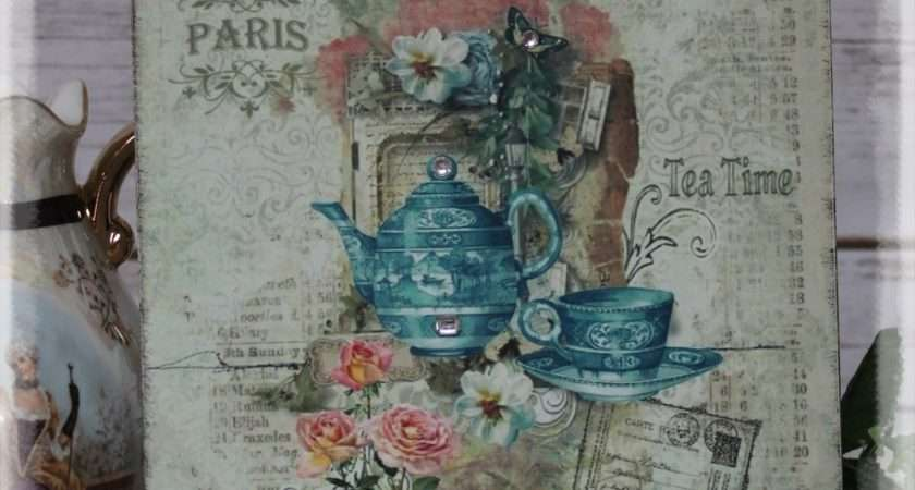 Vintage Tea Time Shabby Chic Country Cottage Style