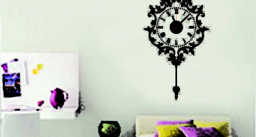 Vintage Wall Clock Home Decor Sticker Decal Art Removable