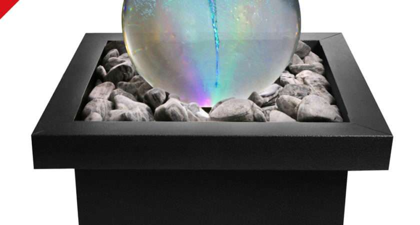 Vortex Whirlpool Orb Sphere Water Feature Fountain Colour Changing