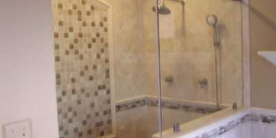Walk Tile Shower Includes Rainshower Head