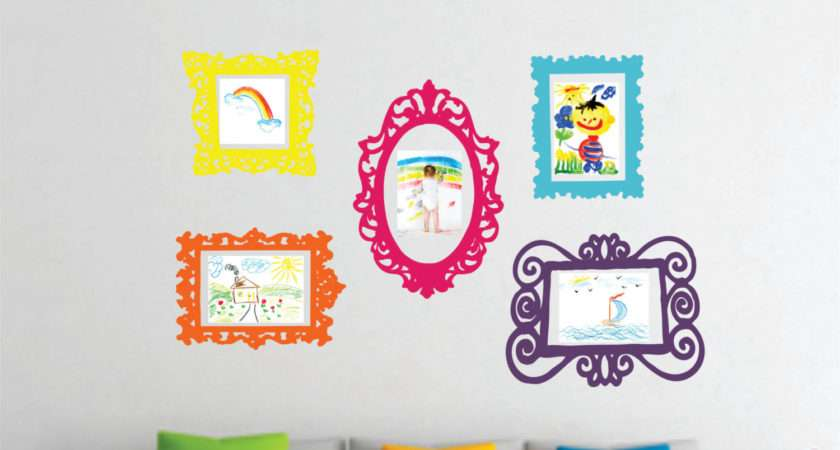 Wall Decal Set Frames Playroom Decor Bedroom Lucylews