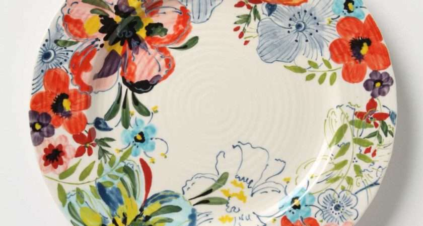 Wall Flowers Decorative Plates Dining Room Swoon