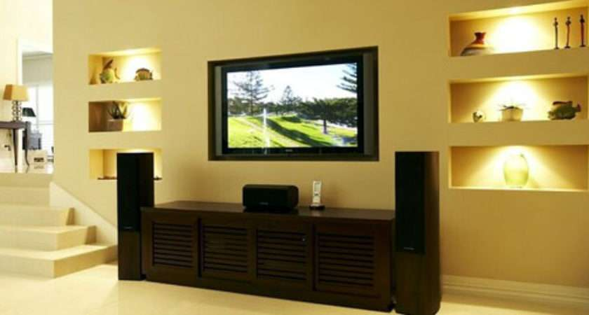 Wall Ideas Mount Hide Wires Wooden
