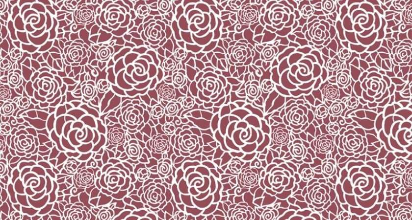 Wall Lace Roses Decorative Stencil Calla Home Painting