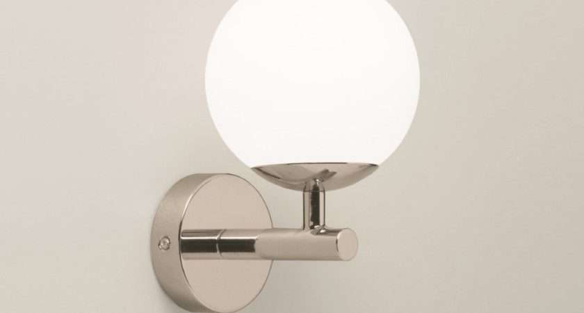 Wall Light Round Opaque White Shade Pull