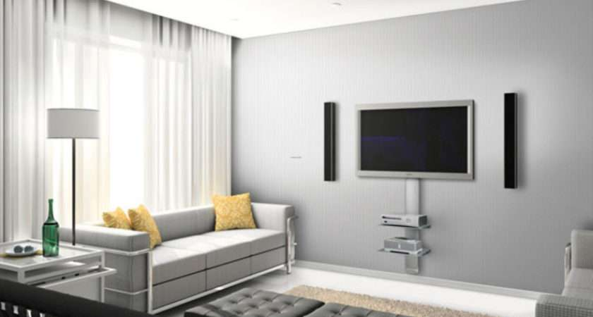 Wall Mount Ideas Contemporary Living Room Decorating