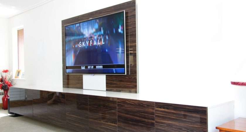 Wall Mounted Floating Media Storage Home Cinema Room Custom