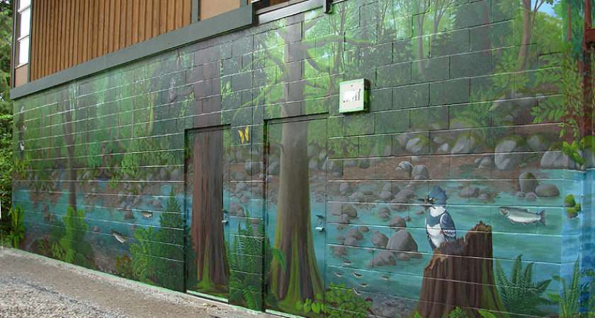 Wall Mural Port Coquitlam Landscape Wildlife Painting