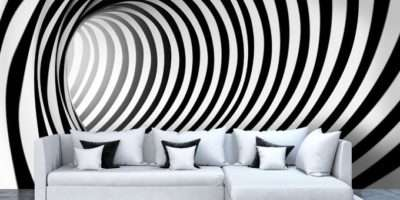 Wall Murals Black White