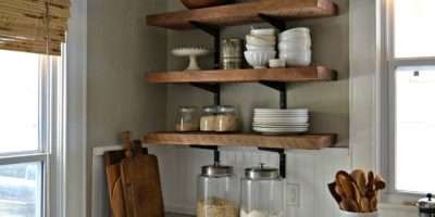 Wall Shelves Can Put Kitchen Well Store Spices