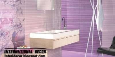Wall Tiles Design Purple Color Bathroom Tile