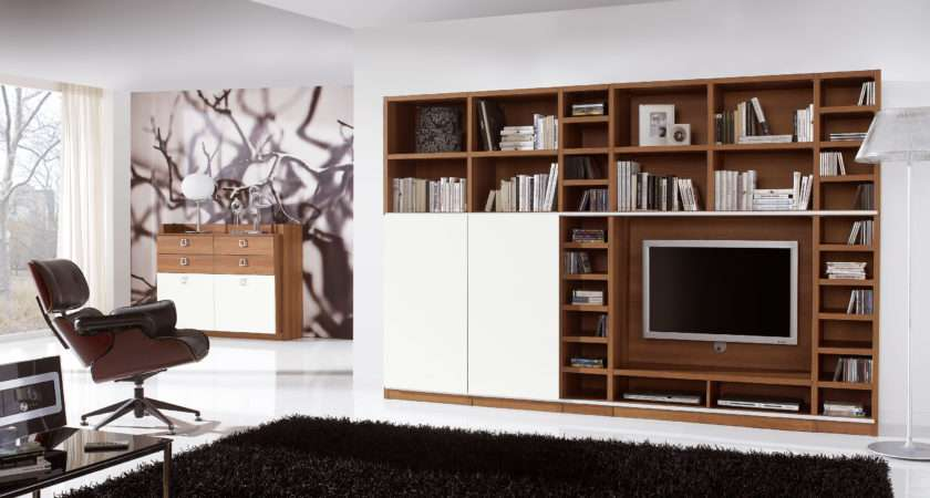 Wall Unit Library System Sliding Doors Conceal Choice
