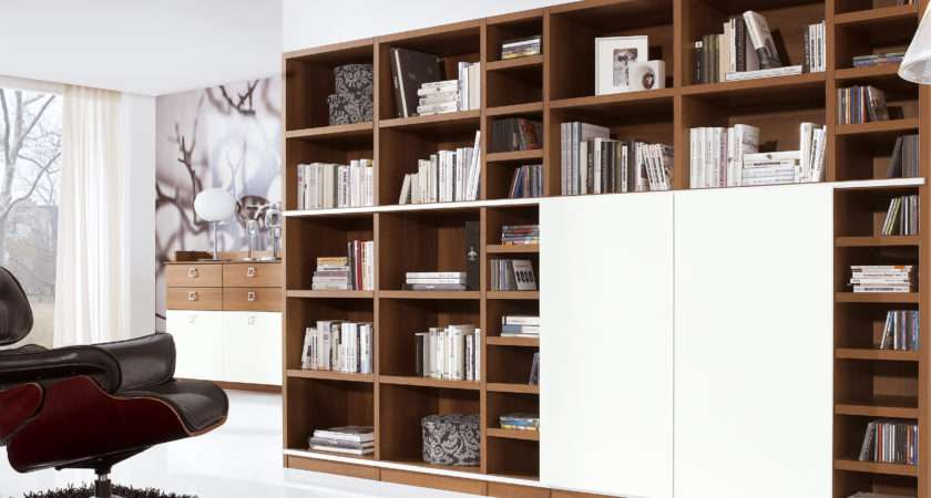 Wall Unit Library System Sliding Doors Conceal