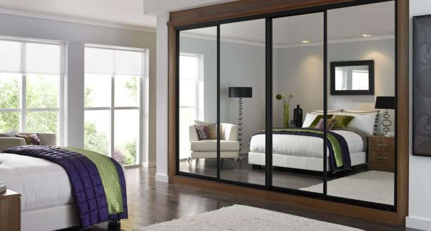 Wardrobe Closet Mirrored Doors