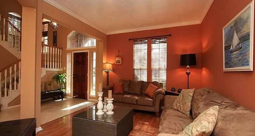 Warm Colors Living Room Interior Design Ideas Calm Paint