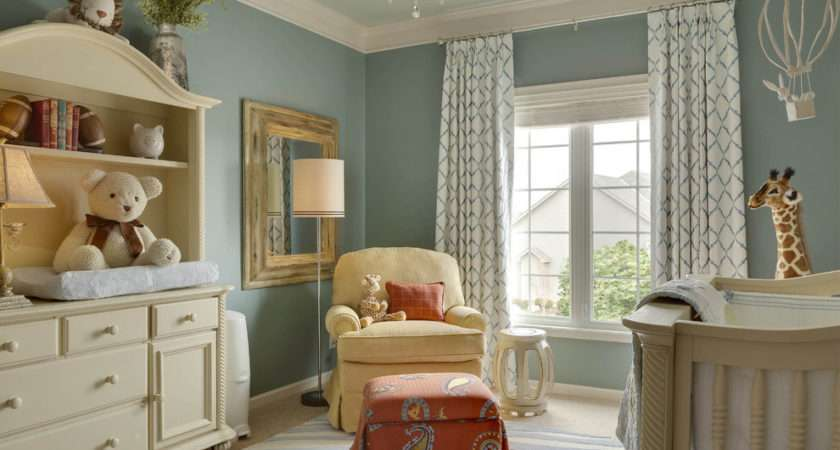 Warm White Paint Colors Traditional Nursery Blue Walls Kansas