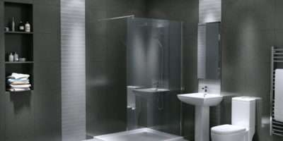 Waterfall Wet Room Walk Shower Enclosure Suite Different Sizes Avb