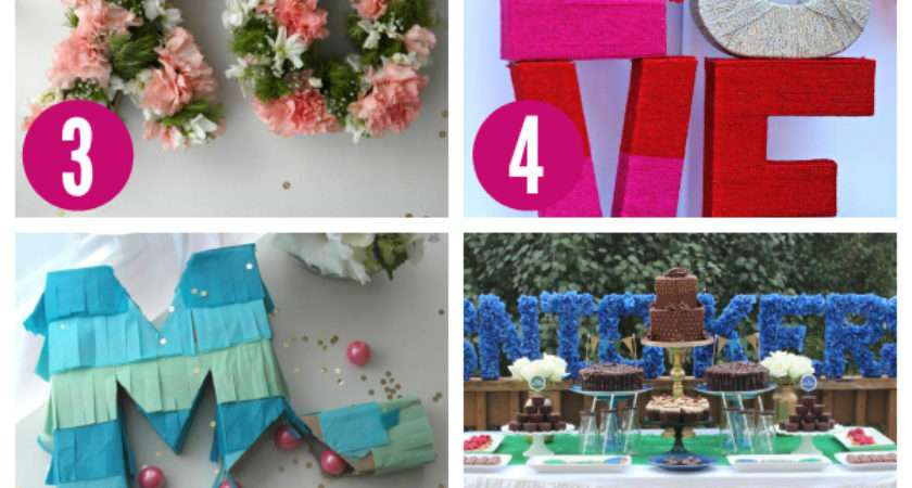 Ways Decorate Your Party Cardboard Letters