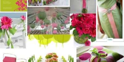 Wedding Ideas Bright Pink Lime Green