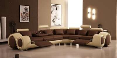 Well Designed Modern Recliner Corner Leather Sofa Living Room