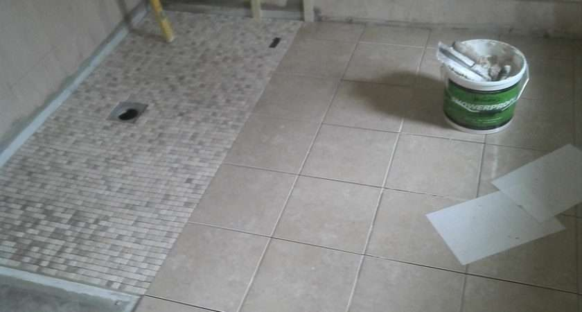 Wet Room Floor Mosaic Tiles Fitted