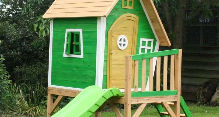 Whacky Tower Playhouse Raised Wooden Cubby
