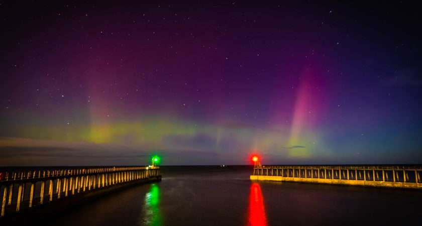 Whitby Skies Lit Northern Lights Real