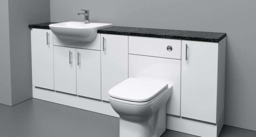 White Bathroom Fitted Furniture Ebay