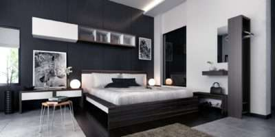 White Black Brown Modern Bedroom Furniture Interior Design Ideas
