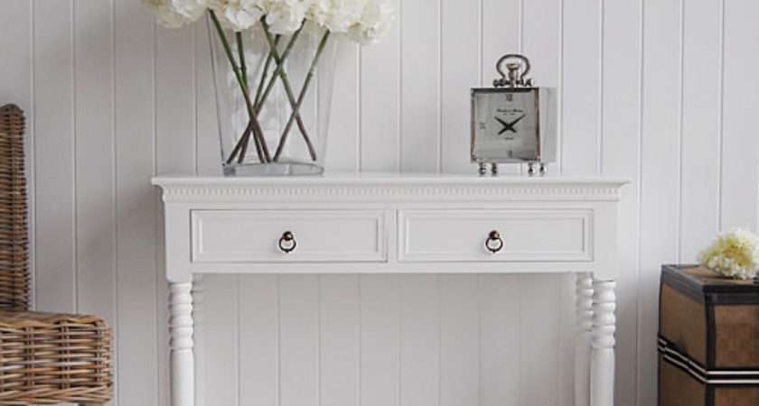 White Console Table New England Hall Furniture