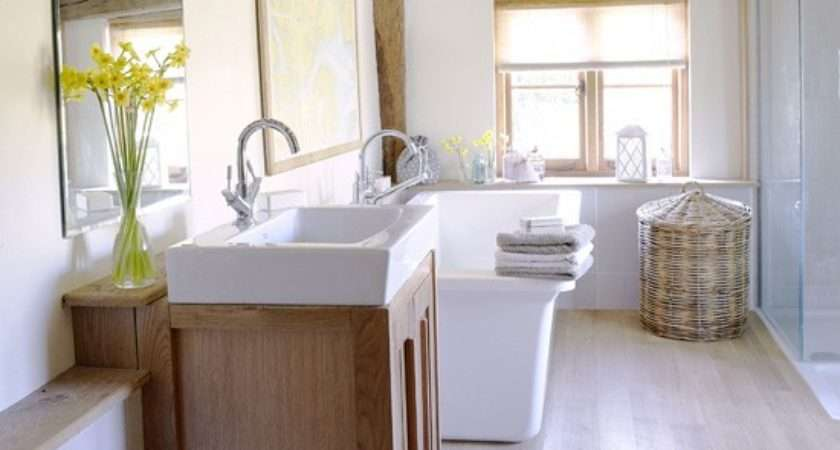 White Country Bathroom Ideas