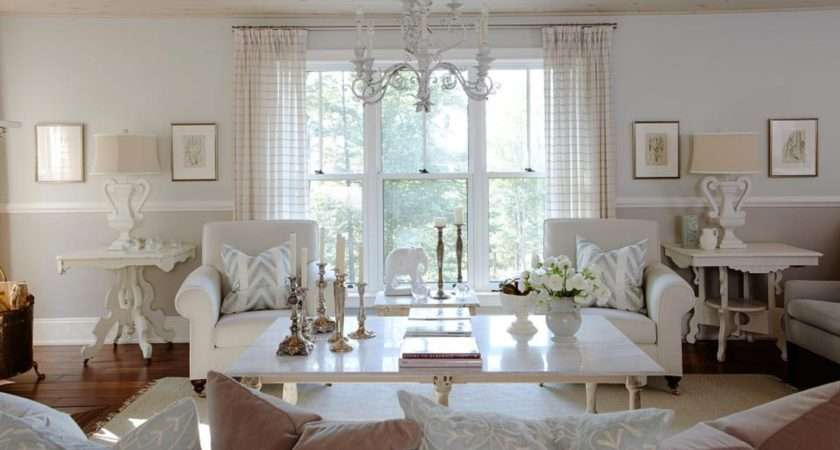 White Curtains Small Traditional Living Room Ideas